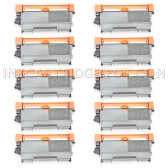 Compatible Brother Set of 10 TN450 High Yield Toner Cartridges - 26000 Page Yield