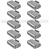 Compatible Brother TN650 Set of 10 Black Laser Toner Cartridges - 80000 Page Yield