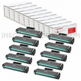 Set of 10 Black Cartridges for the Samsung MLT-D104S - 15000 Page Yield