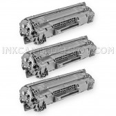 Compatible HP CE285A - (HP 85A) (Set of 3-Pack) Black Laser Toner Cartridge  - 4800 Page Yield