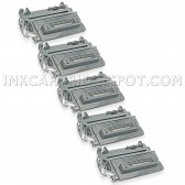 Compatible HP Set of 5 Black 64A / CC364A Laser Toner Cartridges - 50000 Page Yield