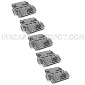 Compatible HP Set of 5 Black 64X / CC364X High Yield Laser Toner Cartridges - 120000 Page Yield