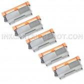 Compatible Brother Set of 5 TN450 High Yield Toner Cartridges - 13000 Page Yield
