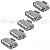 Compatible Brother TN650 Set of 5 Black Laser Toner Cartridges - 40000 Page Yield