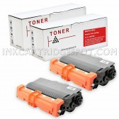 Compatible Brother TN750 Set of 2 Black Laser Toner Cartridges - 16000 Page Yield