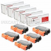 Compatible Brother TN750 Set of 5 Black Laser Toner Cartridges - 40000 Page Yield