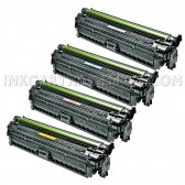 Replacement Laser Toner Cartridges (HP 651A) 1 Black CE340A, 1 Cyan CE341A, 1 Magenta CE343A and 1 Yellow CE342A