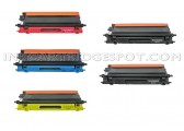 5 Pack Compatible Brother TN115 Cyan,Magenta,Yellow,2 Black Toner Cartridge