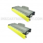 Compatible Brother TN-360 (TN360) Combo Pack of 2 Black High Yield Laser Toner Cartridges  - 5200 Page Yield