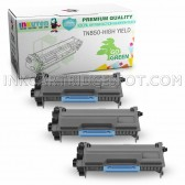 3-Pack INKUTEN Replacement Brother TN850 High Yield Black Toner Cartridges