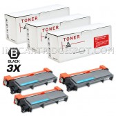 Compatible Brother TN660 (TN-660) Combo Pack of 3 Black High Yield Laser Toner Cartridges