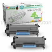 2-Pack INKUTEN Replacement Brother TN880 Super High Yield Black Toner Cartridges