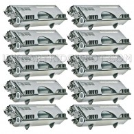Compatible Brother TN460 Set of 10 Black Laser Toner Cartridges - 60000 Page Yield