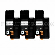 3 Pack - Compatible Dell 332-0399 High Yield Black Toner Cartridge for Color Laser 1660w Printers