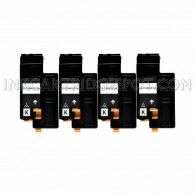4 Pack - Compatible Dell 332-0399 High Yield Black Toner Cartridge for Color Laser 1660w Printers