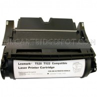 Compatible Black Laser Toner Cartridge for Lexmark 12A6735 (Optra T520, T522) - 21,000 Page Yield