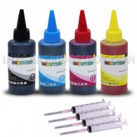 Epson T127 T127XL Ink Refill Kit 4 Bottles High Quality Refill Dye Ink (100ml Black, 100ml per color, total 400ml)