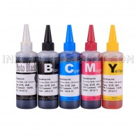Compatible CISS Refill Ink Bottles (500ml, 100ml Per Color & Extra 100ml Black) for Canon PGI-225 CLI-226