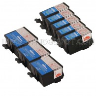 Kodak Compatible #10XL Bulk Set of 8 Ink Cartridges- 5 Black (8237216) & 3 Color (8946501)