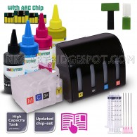 EMPTY CISS Continuous Ink Supply System For Canon PGI-1200/XL with 4x100ml TRUE-COLOR PIGMENT Ink Bottle Set - Compatible with Maxify MB2020, Maxify MB2120, Maxify MB2320, Maxify MB2720 Printers