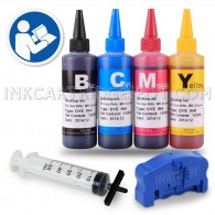 Brother Ink Refill Kit for LC103 LC101 Ink cartridges + 4 Bottles of 100ml Dye Ink Refill Kit Tool and Chip Resetter