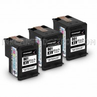 3PK HP 901XL CC654AN High Yield Black Ink Cartridge