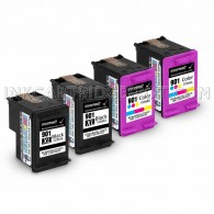 HP 901XL & 901 (CC654AN/CC656AN) Ink Cartridges 4PK - 2 Black, 2 Color