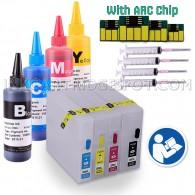 INKUTEN Empty Refillable Cartridges for CANON PGI-2200XL PGI-2200 with 4x100ml Pigment Ink