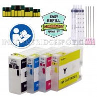 4 Easy-to-refill Cartridges for Canon PGI-1200XL (Empty) compatible with MAXIFY IB4020 MB5020 MB5320