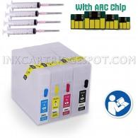 Empty Refillable Cartridges for Canon PGI-1200 PGI1200 XL Pre-filled Auto Reset Chips (ARC)