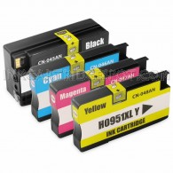 Replacement Set of 4 (HP 950XL and 951XL High Yield) Ink Cartridges for Hewlett Packard - 1 Black + 1 Each Cyan, Magenta, Yellow