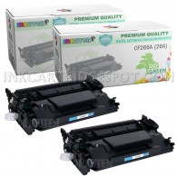 2 Pack HP CF226A 26A Compatible Toner Cartridges for M402dn M402dw M402n M426fdn M426fdw