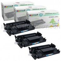 3 Pack HP CF226A 26A Compatible Toner Cartridges