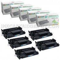 5 Pack HP CF226A 26A Compatible Toner Cartridges