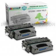2 Pack Replacement Toner Cartridge for HP CF226X 26X Toner for HP LaserJet M4555F M4555FSKM M4555H M601 M601DN M601N