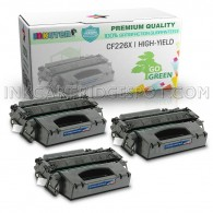 3 Pack Replacement Toner Cartridge for HP CF226X 26X Toner for HP LaserJet M4555F M4555FSKM M4555H M601 M601DN M601N