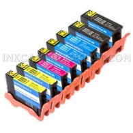 Compatible Set of 8 (Series 31) High Yield Ink Cartridges for the Dell V525w & V725w Printers: 2 Black, 2 Cyan, 2 Magenta & 2 Yellow