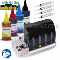 CIS CISS Continuous Ink Supply System For Epson 200 #200 T0200 T200 with 4x100ml Dye Ink Bottle Set