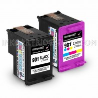 HP CC653AN (HP 901) and CC656AN (901) Set of 2 Ink Cartridges: Includes 1 Black and 1 Color Cartridge