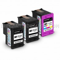 HP CC653AN (HP 901) and CC656AN (901) Set of 3 Ink Cartridges: Includes 2 Black and 1 Color Cartridge