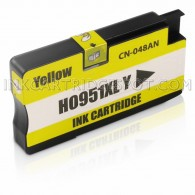 Replacement Ink Cartridge for Hewlett Packard CN048AN (951XL) High Yield Yellow - Shows Accurate Ink Levels - 1500 Page Yield