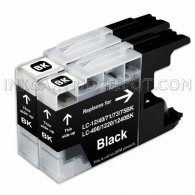 2 Pack Brother Compatible LC75BK/LC71BK High Yield Black Ink Cartridges