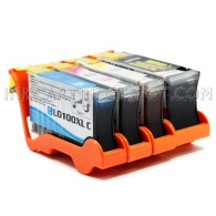 Lexmark Compatible 100XL Set of 4 High Yield Ink Cartridges: 1 Black & 1 each of Cyan Magenta Yellow