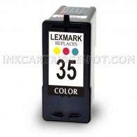 Remanufatured Lexmark 18C0035 (#35) High Yield Color Ink Cartridge