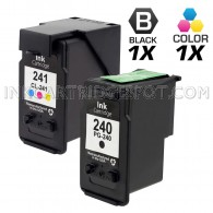 Canon PG240 and CL241 Set of 2 Compatible Ink Cartridges: Includes 1 Black and 1 Color Cartridge