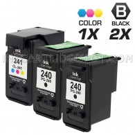 Canon PG240 and CL241 Set of 3 Compatible Ink Cartridges: Includes 2 Black and 1 Color Cartridge