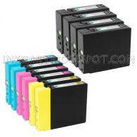 Compatible Canon PGI-2200XL Set of 10: 4 Black, 2 Cyan, 2 Magenta, & 2 Yellow Ink
