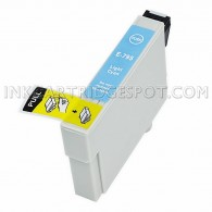 Epson T079520 (T0795) High Yield Light Cyan Compatible Ink Cartridge - 810 Page Yield