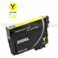 Compatible Epson 200XL (T200XL420) High Yield Yellow Inkjet Cartridge
