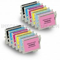 Epson Compatible T048 Set of 12 Ink Cartridges 2 Black & 2 Cyan, Magenta, Yellow, Light Cyan, Light Magenta